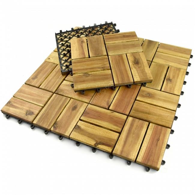 Moduły Płytki Tarasowe Drewniane Akacja Kochamogrodypl