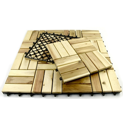 Podest Tarasowy Drewniany Akacja Surowa 12 Klepek