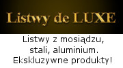 LISTWY DELUXE - listwy ze stali, mosiądzu i aluminium